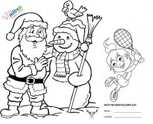 Kerstmarkt Kleurplaat Wedstrijd Tennisvereniging Mltv 90